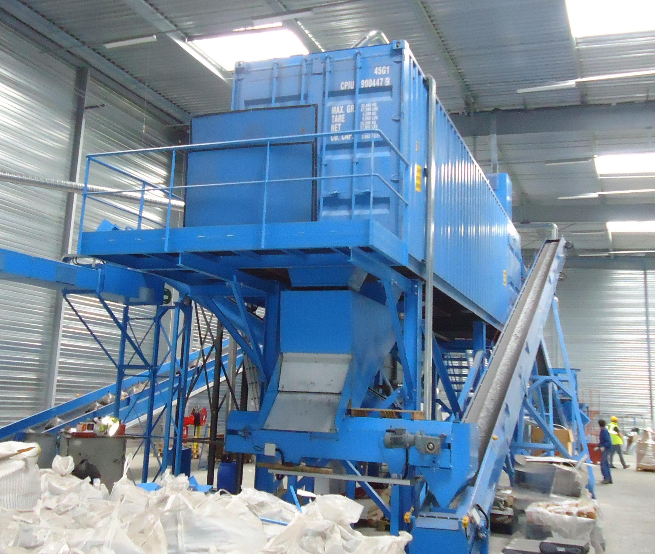 Andela 40 ft Glass Pulverizer Cont